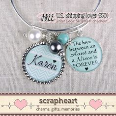 Personalized Niece Gift The Love Between an by ScrapheartGifts