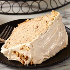 Who can resist this light-as-air, maple scented chiffon cake. Impressive to serve while scrumptious to eat. Cake Boss Recipes, Sweets Recipes, No Bake Desserts, Baking Recipes, Delicious Desserts, Egg Recipes, Fall Recipes, Recipies, Maple Walnut Cake Recipe