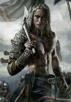 m Barbarian Medium Armor Dual Axe male Battle eastern border Royal Army story lg Fantasy Warrior, Fantasy Art Men, High Fantasy, Medieval Fantasy, Fantasy Artwork, Fantasy Drawings, Art Viking, Viking Warrior, Viking Life