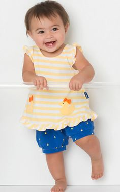 Le Top 1271201 Stripe Popover and Short Duckies