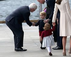 Prince George seemed terribly shy on this trip with his parents and sister, Charlotte.