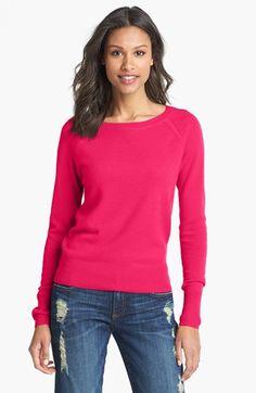Halogen® Raglan Sleeve Cashmere Sweater (Regular & Petite) available at #Nordstrom