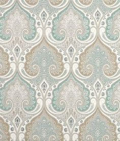Kravet Latika Seafoam Home Decor Drapery Fabric & Upholstery Fabric by The Yard Faux Roman Shades, Custom Roman Shades, Art Japonais, Custom Window Treatments, Custom Windows, Drapery Fabric, Linen Curtains, Sea Foam, Damask