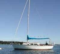 """Tartan 27 – LOD: 27' LWL: 21'4"""" Beam: 8'8"""" Draft: 3'2"""" with board up, 6'4"""" board down. Displacement: 7,400 lbs. Ballast: 2,400 lbs. S&S design 700 built 1961-79. Shoal draft of 3'2"""". Headroom 6ft.  See my review here  http://www.tartanownersweb.org"""