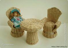 Плетение из газет. МЕБЕЛЬ ДЛЯ КУКОЛ (4) (520x369, 93Kb)