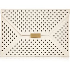 Stella McCartney Beckett perforated faux leather clutch found on Polyvore