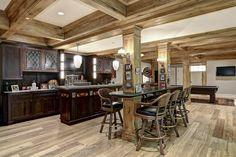 Rustic Basement kitchen Decor