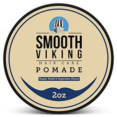 Strong Pomade for Men - Best Hair Styling Formula for Maximum Hold and High Shine - Perfect for Straight, Thick and Curly Hair - Smooth Viking by Smooth Viking -- Awesome products selected by Anna Churchill
