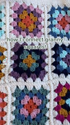 Diy Crochet Projects, Crochet Crafts, Easy Crochet, Knitting Projects, Knit Crochet, Crotchet, Crochet Square Patterns, Crochet Designs, Crochet Stitches