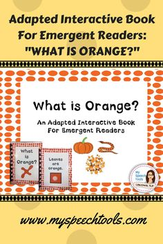 Are you looking for speech therapy adapted books and emergent readers? Do your early readers need to develop basic vocabulary and color recognition? target wh-questions, basic vocabulary and print interaction with prek-1st grade and special education students.