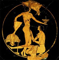 What Did the Greeks Eat and Screw for 10 Years at Troy? Ancient Greek Art, Ancient Greece, Greek Drawing, Le Kraken, Greece Art, Greek Pottery, Minoan, Ancient Mysteries, Bottle Painting