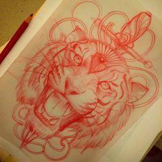 Last one for tonight...maybe #sketch #nightDrawing #tattoo #missjuliet #redsketchbook by m1ss_juliet