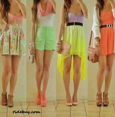 Cute bright outfits for summer/spring!!!