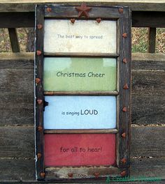 How to make a recycled window Christmas quote decoration · Recycled Crafts   CraftGossip.com