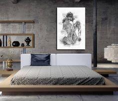 Master bedroom wall decor canvas print his hers bathroom art sexy pencil sketch farmhouse Master Bedroom Bathroom, Bathroom Wall Art, Modern Bedroom, Bedroom Wall, Bedroom Furniture, Bedroom Decor, Wall Decor, Bedroom Canvas, Furniture Layout