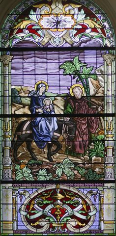 Stained glass - The Flight into Egypt