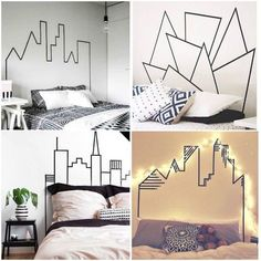 [New] The 10 Best Home Decor Today (with Pictures) Room Decor Bedroom, Dorm Room, Diy Room Decor, Home Decor, Diy Bedroom, Bedroom Ideas, Tape Wall Art, Room Decor For Teen Girls, Cool Rooms