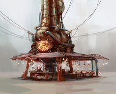 ArtStation - Fallout 4: Diamond City Noodle House, Ilya Nazarov