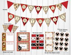 Mickey Mouse got some swag! Burberry Vintage Mickey Mouse Birthday Party Decorations $10.