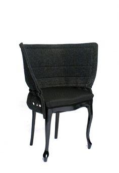 Bespoke dresses for old chairs, Fredrik Färg, Sweden