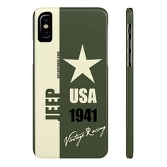 Items similar to Jeep Phone Case Green Vintage Racing Series Slim Phone Cases iPhone X iPhone 8 iPhone 8 Plus IPhone 7 iPhone 7 Plus on Etsy Vintage Jeep, Vintage Racing, Galaxy S3, Mobile Phone Cases, Iphone Cases, Gif Disney, World Best Photos, Diy, Retro