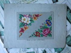 Antique Hand Painted Berlin Woolwork Embroidery Chart- F.W. Wicht | eBay