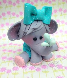 Baby fondant elephant