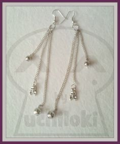 By Uchiloki PRODUCCION PROPIA: Chain & Skull Earrings