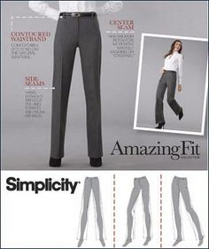 10f8dc0d96bc Misses Pants Sewing Pattern Simplicity Pattern 2860 Amazing Fit Misses Miss  Petite Pants Slim Average Curvy Fit New Uncut Pattern