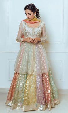 Bridal Anarkali Suits, Pakistani Party Wear Dresses, Pakistani Wedding Outfits, Pakistani Dress Design, Fancy Dress Design, Stylish Dress Designs, Bridal Dress Design, Dress Neck Designs, Indian Designer Outfits