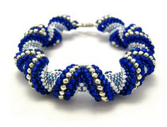"Alternating Cellini Spiral Bead Bracelet by designer MyAmari. Free 18p PDF if you are willing to sign up for Craftsy. You can ""unsubscribe"" to their email later. #Seed #Bead #Tutorials"