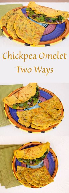 Chickpea Omelet Two Ways - These savory vegan omelets are a great way to start your day.