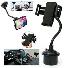 360 Universal Car Mount Windshield Cup Mobile Holder Cradle For Cell Phone GPS - Ideas of Car Phone Holder Dashboard Phone Holder, Car Cell Phone Holder, Air Vent Phone Holder, Iphone Holder, Magnetic Phone Holder, Car Mount Holder, Car Holder, Car Best, Mobile Holder