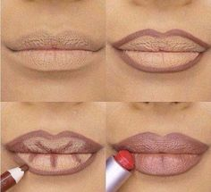 Use A Dark Pencil To Contour Your Lips First | Genius Instagram Beauty Hacks You Should Check Out