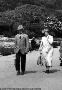 Off to play tennis perhaps?Photo is titled 'Blackburn, Couple 1923'. From The Francis Frith Collection, a privately-owned archive of over 130,000 photographs of Britain from 1860-1970 that you can browse online for free anytime. #francisfrith #photography #nostalgia Play Tennis, Britain, Nostalgia, Archive, Photographs, History, Couples, Sports, Free