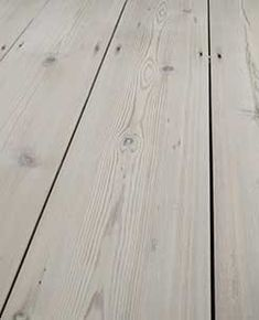 It's a good idea to leave the gaps in original pine wooden flooring as they allow the wood to move when it expands and contracts. Stairs Cladding, Wood Cladding, Wooden Flooring, Hardwood Floors, Wood Floor Restoration, Types Of Flooring, Paint Colors, Pine, Bedroom Decor