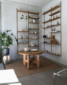 Nordic Design Highlights from Copenhagen - Curate & Display - Nordic Interiors and Li Oak Wall Shelves, Wall Shelves Design, Shelving, Library Shelves, Interior Design Magazine, Home Interior Design, Interior Logo, Design Interiors, Cafe Interior