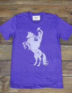 Get you one of these vintage Texans Rider tees while they are hot! Brand new, super soft.. these won't last long! Go TSU!
