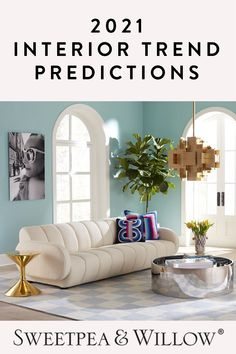 Read our latest blog - our editors have predicted the trends expected to dominate the interior industry in 2021 with exiting new designs and creative innovations. Lots of boucle furniture, Pantone's colours of the year grey and yellow and plant patterns and prints! #sweetpeaandwillow #2021interiors Living Room Trends, Living Room Decor, Dining Room, Luxury Homes Interior, Luxury Home Decor, Monochrome Interior, Modern Art Deco, Blue Home Decor, Minimalist Home Decor