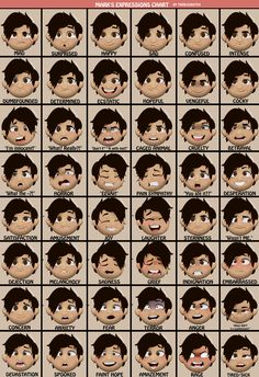 Markiplier Expressions Sheet [FULL] by TrebleSketchOfficial