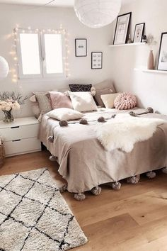 56 the basic facts of bedroom ideas for teen girls dream rooms teenagers girly - Bedroom Ideas - Bedroom Ideas Cute Bedroom Ideas, Girl Bedroom Designs, Modern Bedroom Design, Room Ideas Bedroom, Small Room Bedroom, Decor Room, Ikea Bedroom, Bedroom Furniture, Girly Bedroom Decor