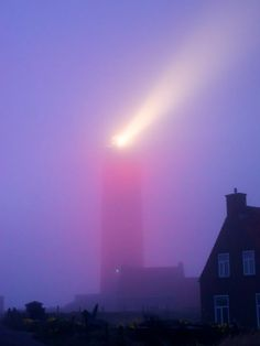 Lighthouse in the fog -  De Cocksdorp, North Holland, Netherlands