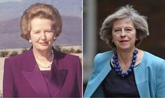 Tory tradition … Margaret Thatcher and Theresa May.