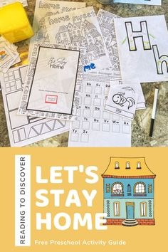 from Reading to Discover Preschool Education, Preschool At Home, Free Preschool, Preschool Printables, Preschool Learning, Toddler Preschool, Learning Resources, Toddler Activities, Preschool Activities