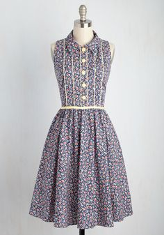 F is for Flora Dress. When you lay eyes on this cotton shirt dress, all sorts of words will come to mind - feminine, fun, and floral! #multi #modcloth