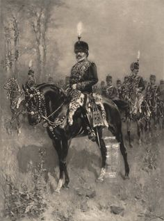 King Edward VII, as Colonel-in-Chief of the 10th ( the Prince of Wales's Own Royal ) Hussars, 1901, Hermanus Koekkoek