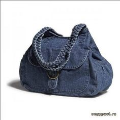 Denim Bag -- Blog post filled with awesome inspiration for ways to upcycle denim!