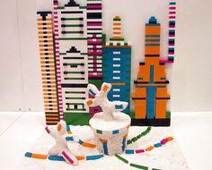 45 progetti, 45 coloratissimi modellini in Lego, realizzati da altrettante artiste e scienziate che interpretano il tema della costruzione