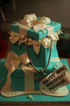 Tiffany boxes cake!!...