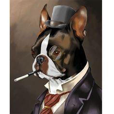 American Gentleman - Boston Terrier Art Print. $16.00, via Etsy.